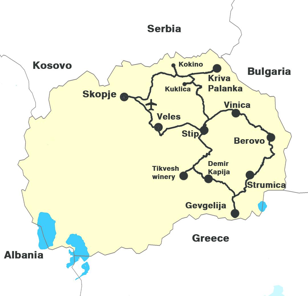 Eastern Macedonia map