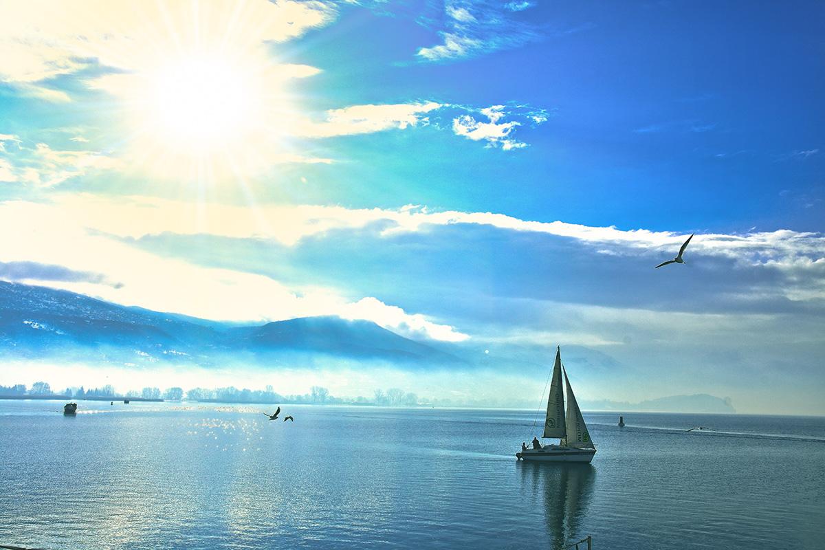Sunny day in Ohrid lake