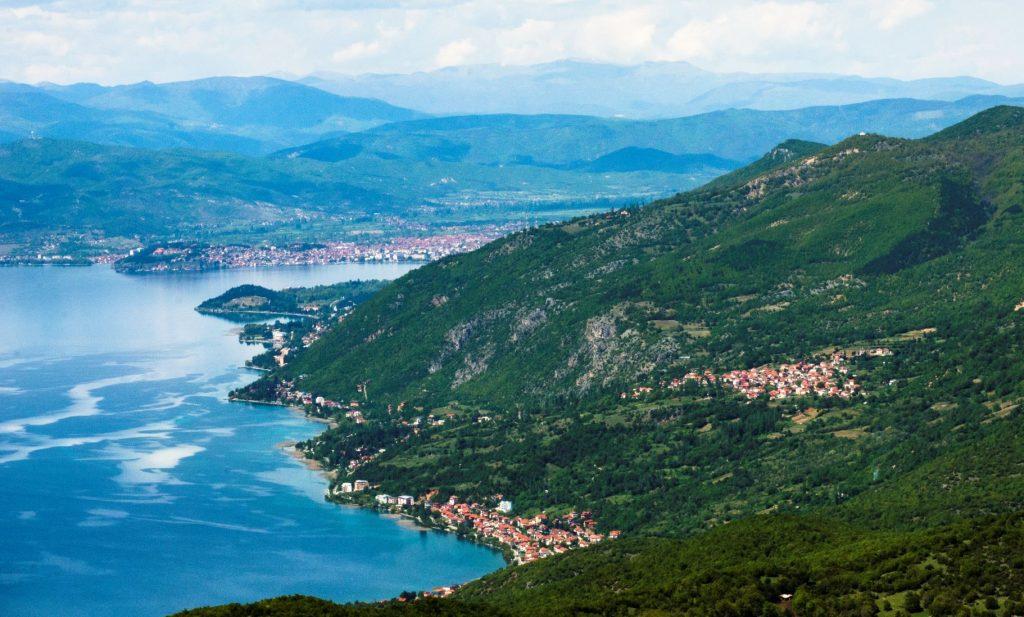 Galichica mountain, Ohrid lake, Ohrid and the settlement around Ohrid lake