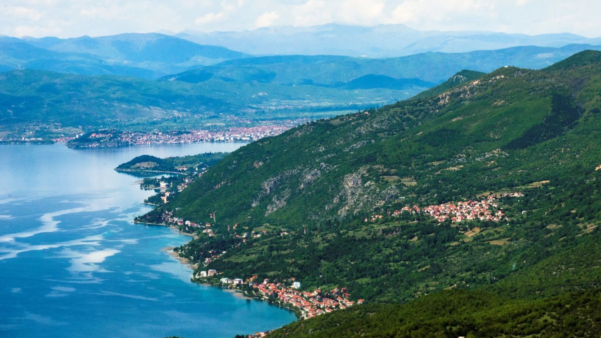 Galichica mountain, Ohrid lake, Ohrid and the settlement around Ohrid lake