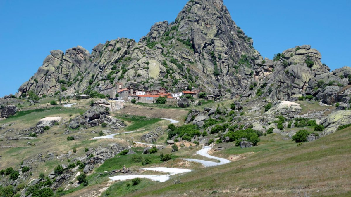 Road that leading to rocky mountain and monastery Treskavec, above Prilep