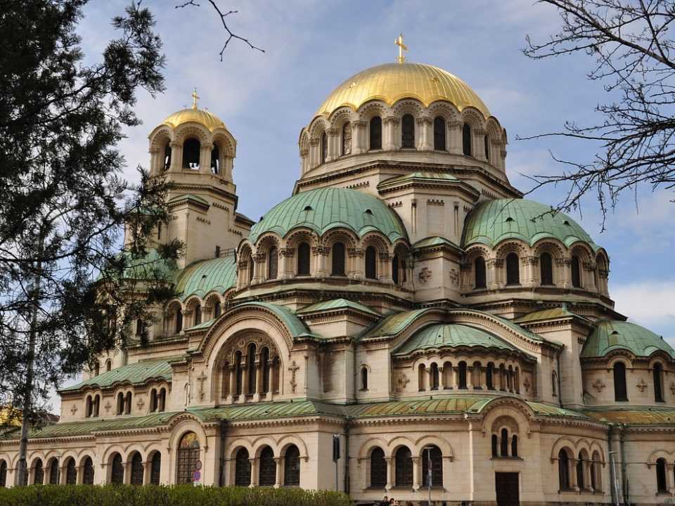 The St. Sunday church on the Vasil Nevski square in Sofia, the capital of Bulgaria