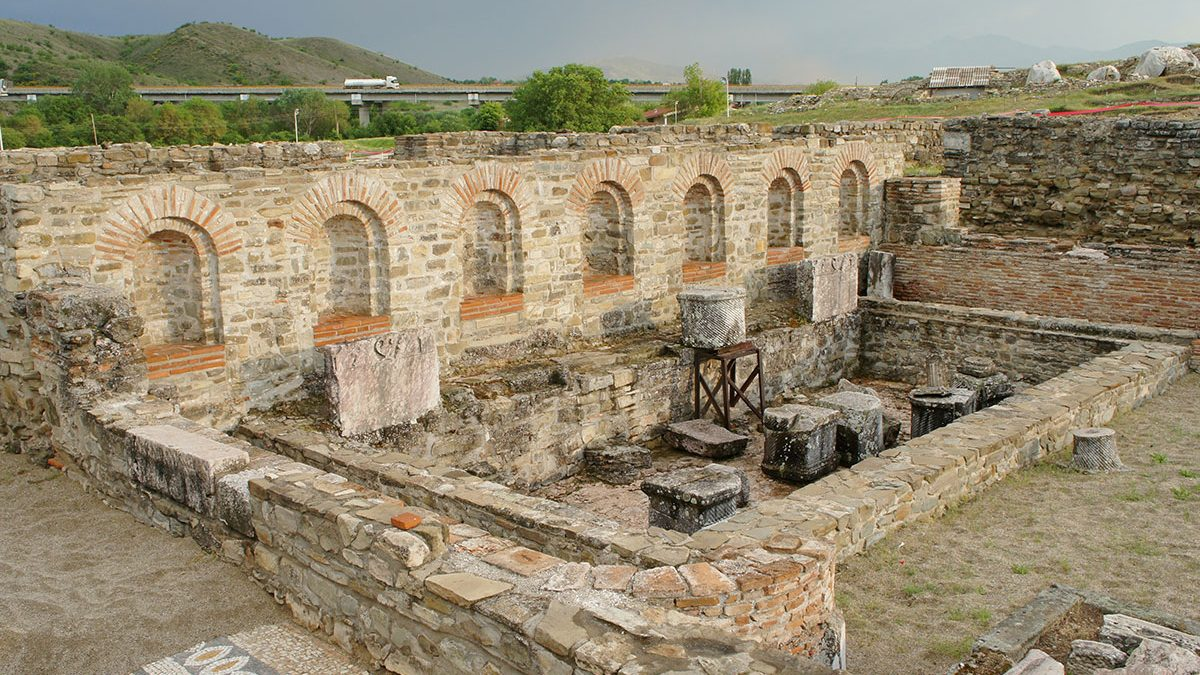 Stobi, the biggest archaeological site in Macedonia, from Roman time