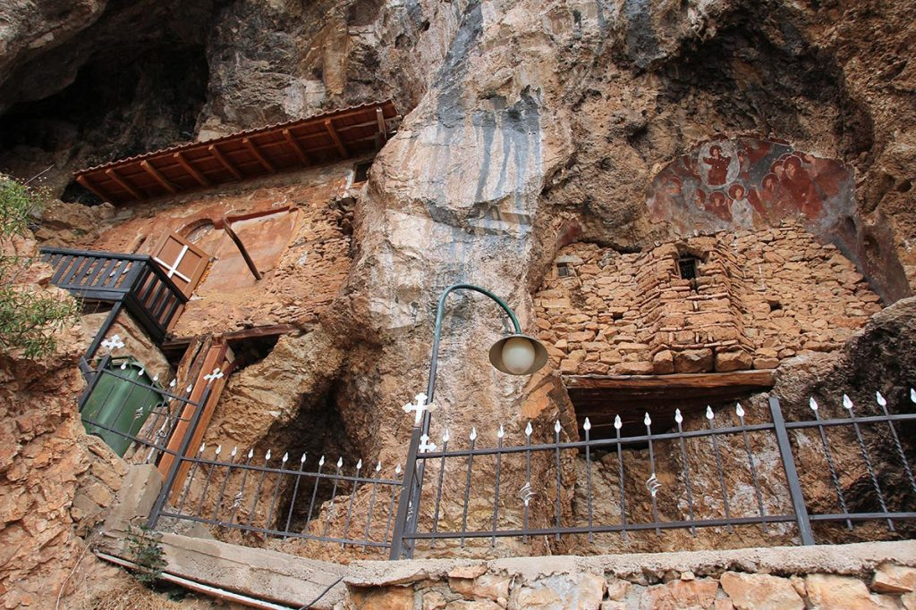 The cave church of Archangel Michail in the village of Radozhda, near Struga, Macedonia