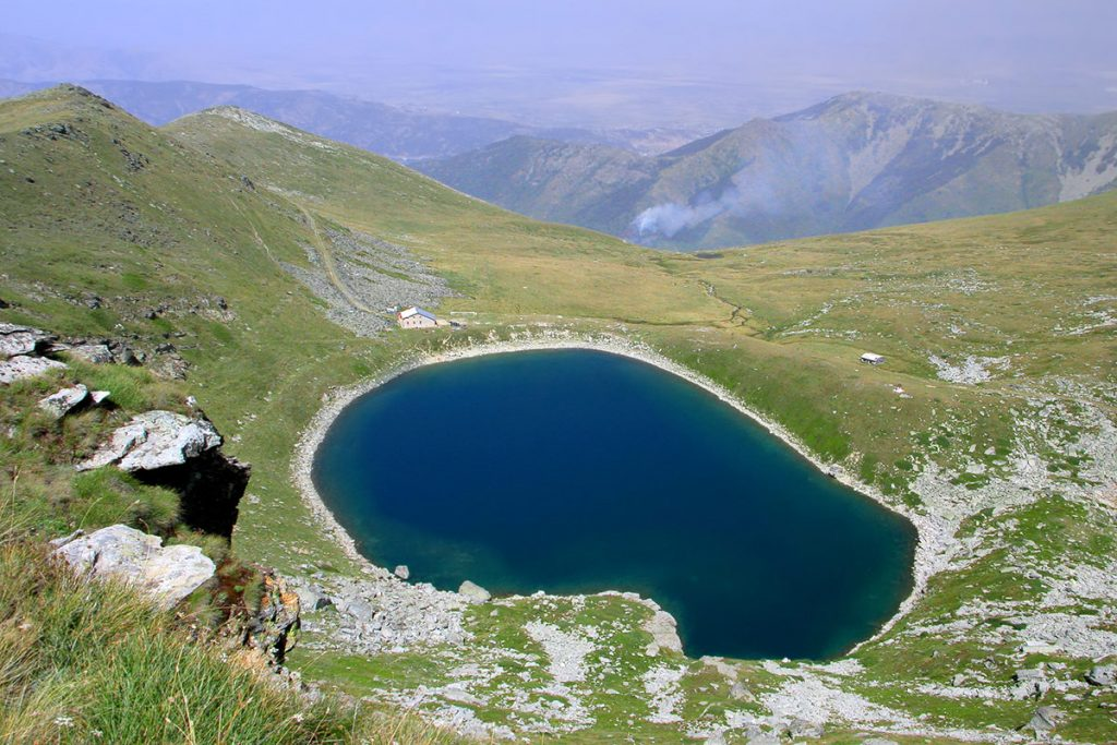 Pelister's Eyes, one of the natural glacial lakes on Pelister hill, near Bitola, Macedonia