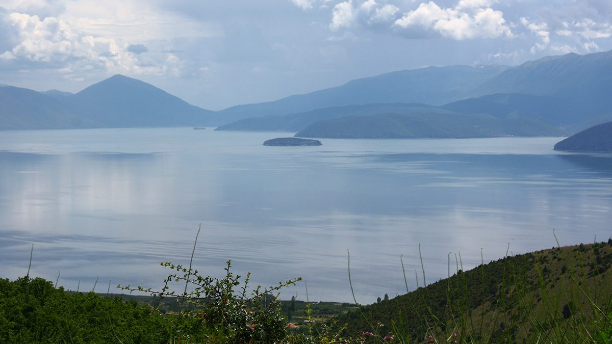 The Island of Golem grad in Lake Prespa