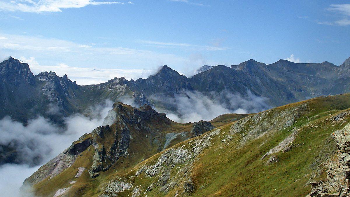 Mountain view of Golem Korab peak on Korab mountain