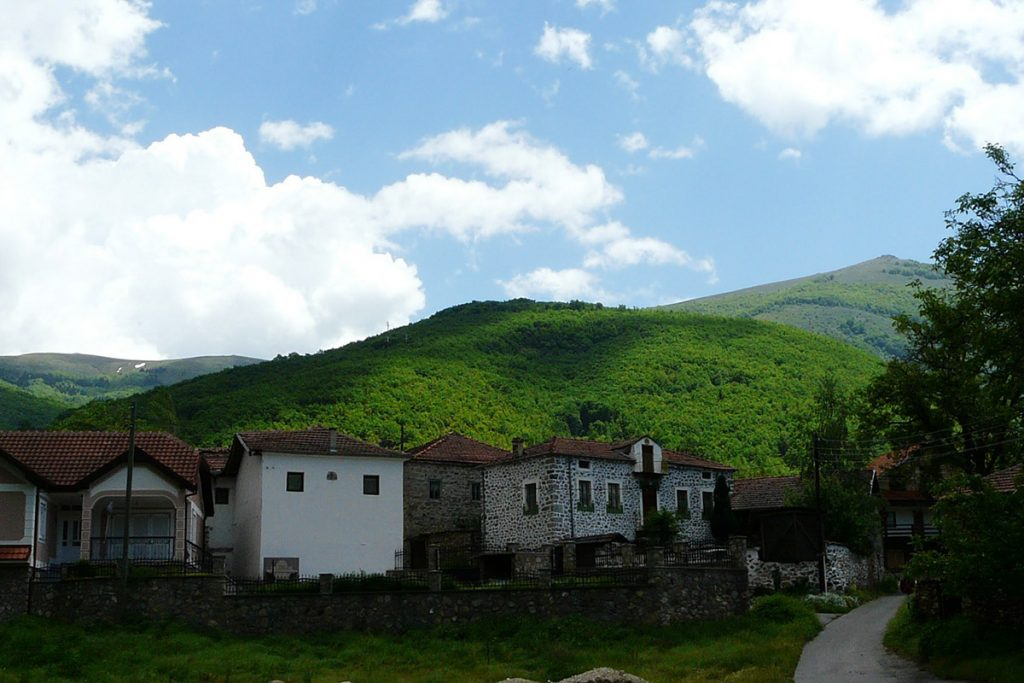 Old architecture in Brajchino village, near Resen, Macedonia