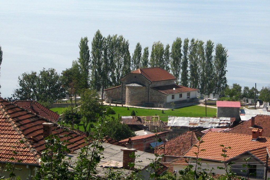 Elshani village on Ohrid Lake shores, Macedonia