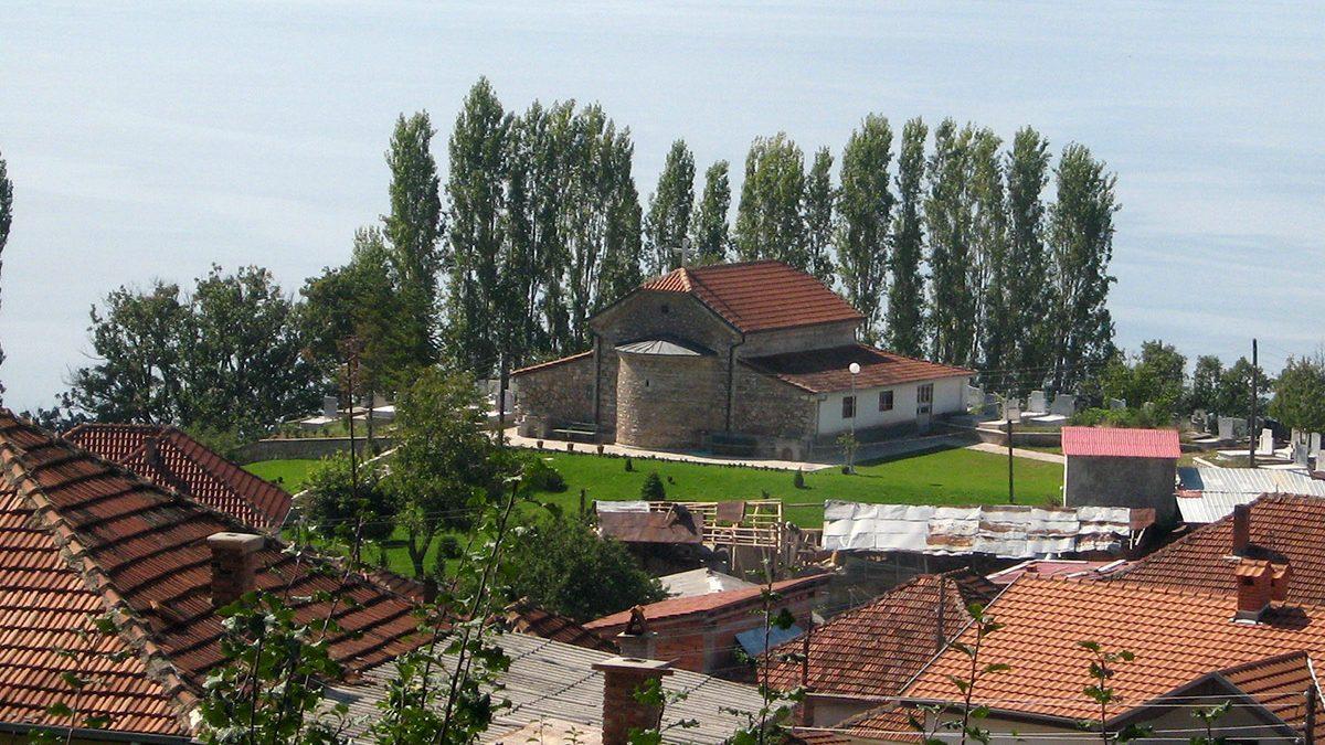 Elshani village on Ohrid Lake shores, Macedonia