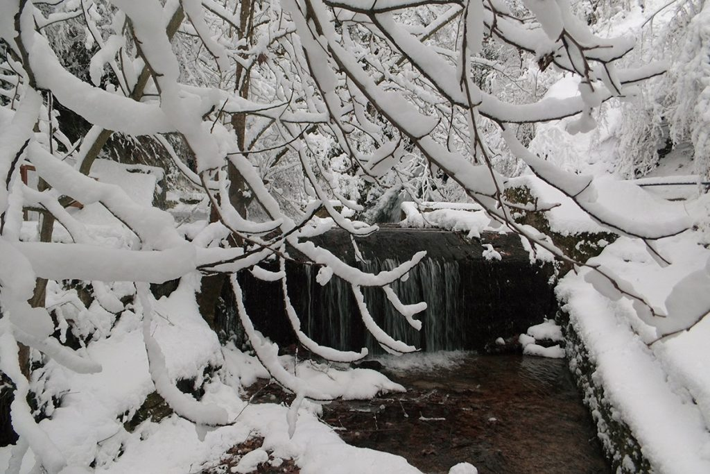 Gabrovo waterfall in winter