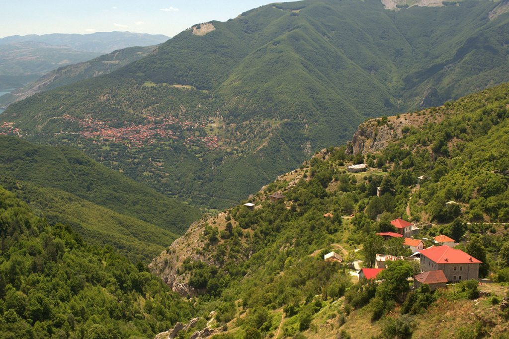 The village of Galichnik from above, Mavrovo region