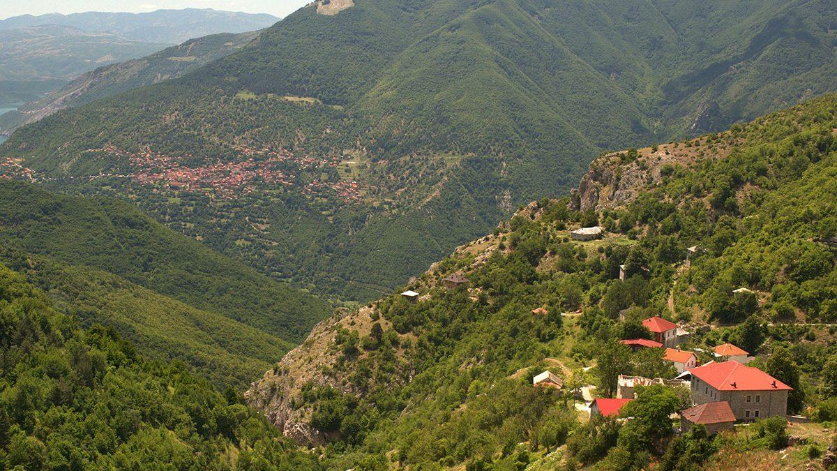 The village of Galichnik from above, Mavrovo region