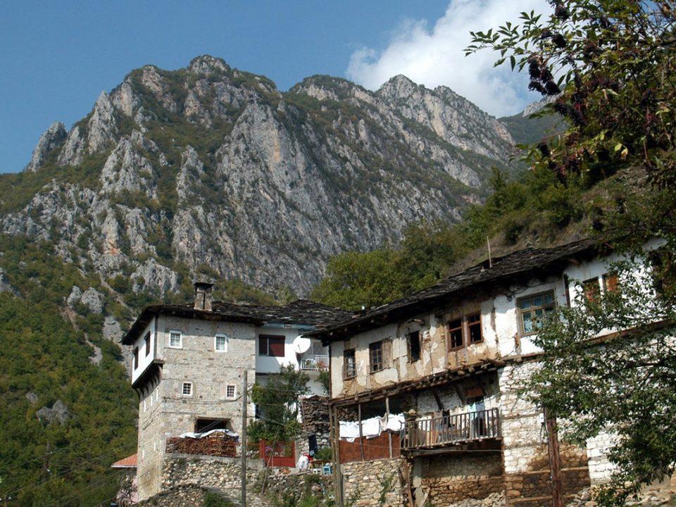 Old architecture in the Janche village, Mavrovo, Macedonia