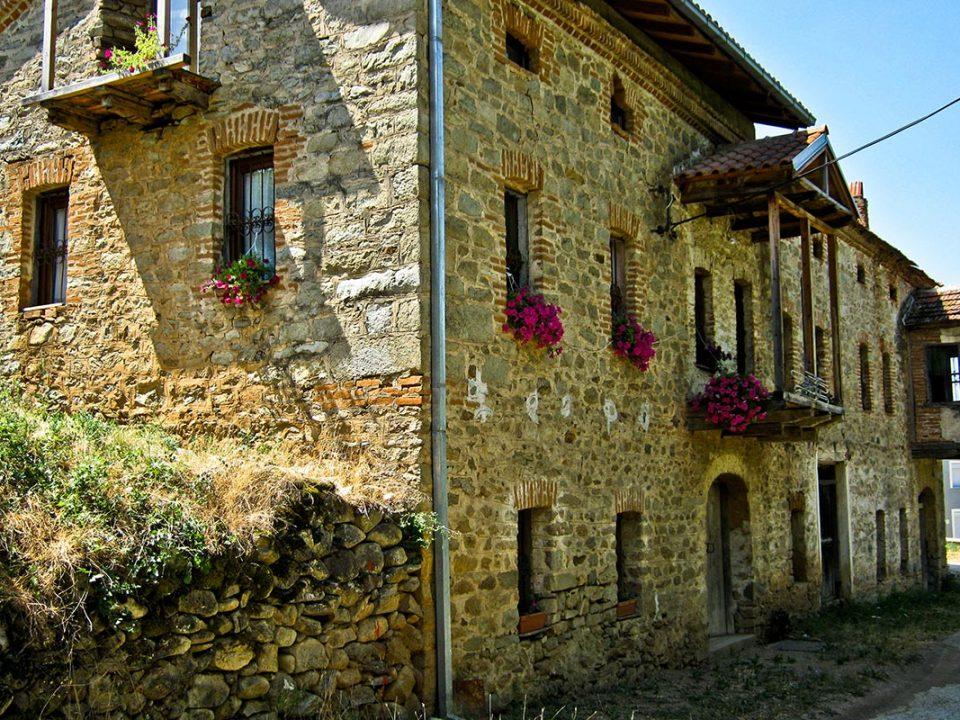 A house architecture in the village of Ljubojno