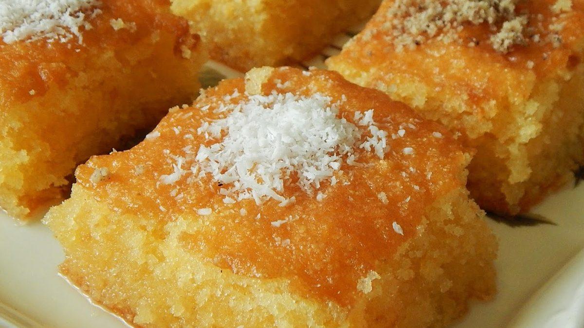 Ravanija, a homemade pastry dessert