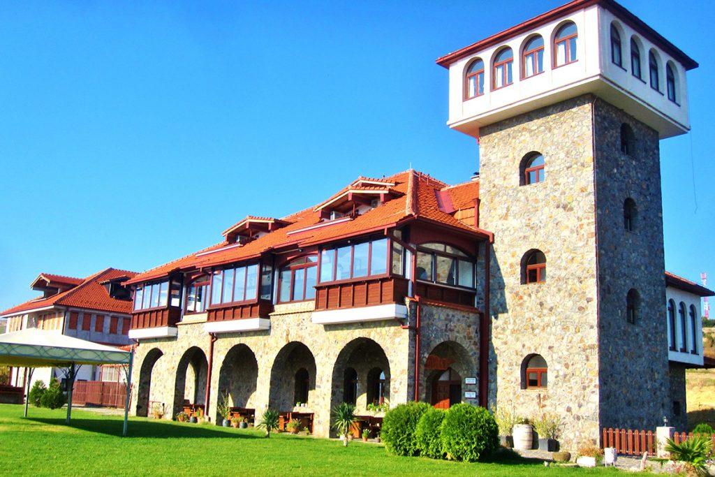 Popova kula winery with the tower next to it, Demir Kapija, Macedonia