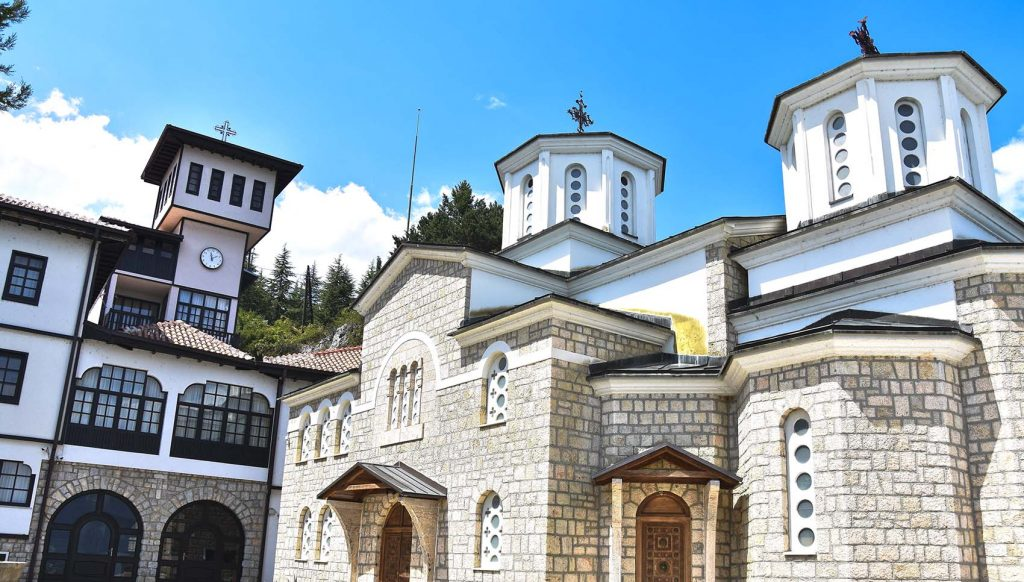 Church dedicated to Annonciation of Mother of God in Kalista village together with buildings from the monastery complex