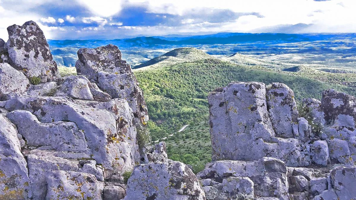 A view from the Megalithic observatory Kokino of the whole plain bellow