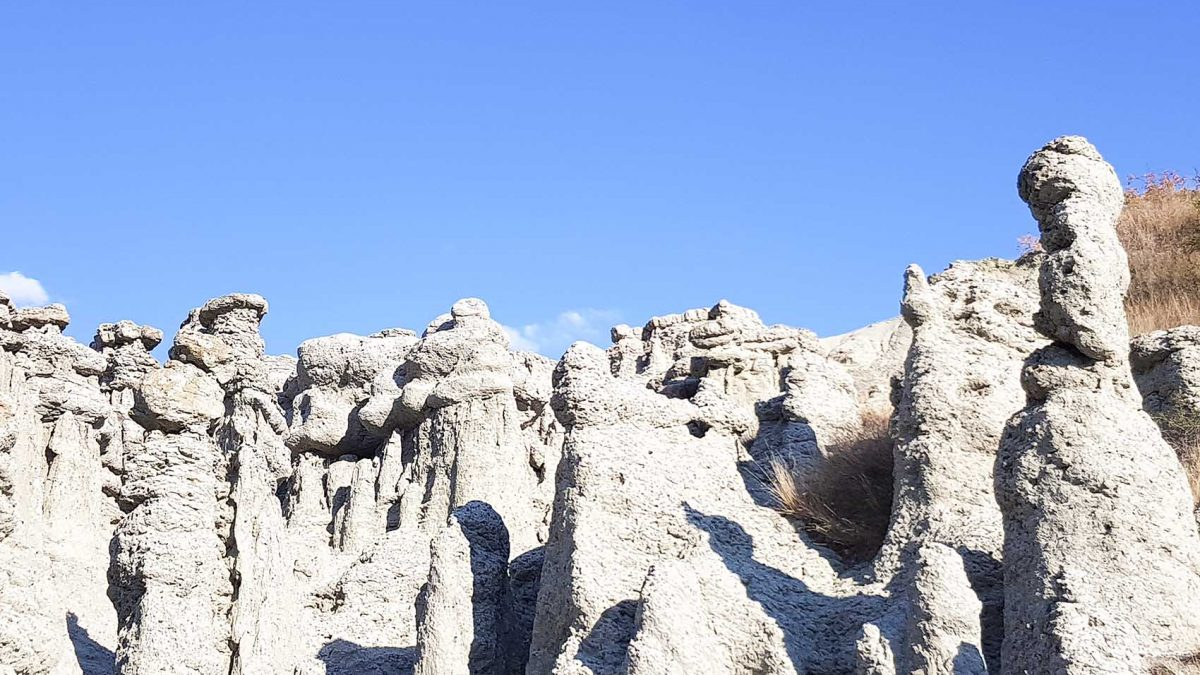 The Stone Dolls, a natural stone doll formation, near Kratovo, Macedonia