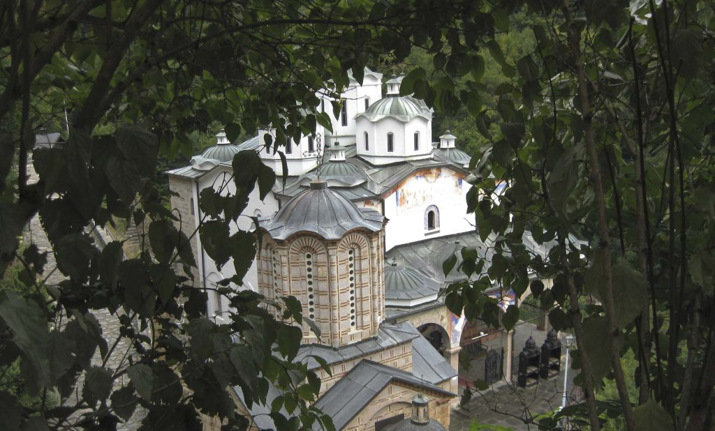 Osogovo Monastery and branches from trees