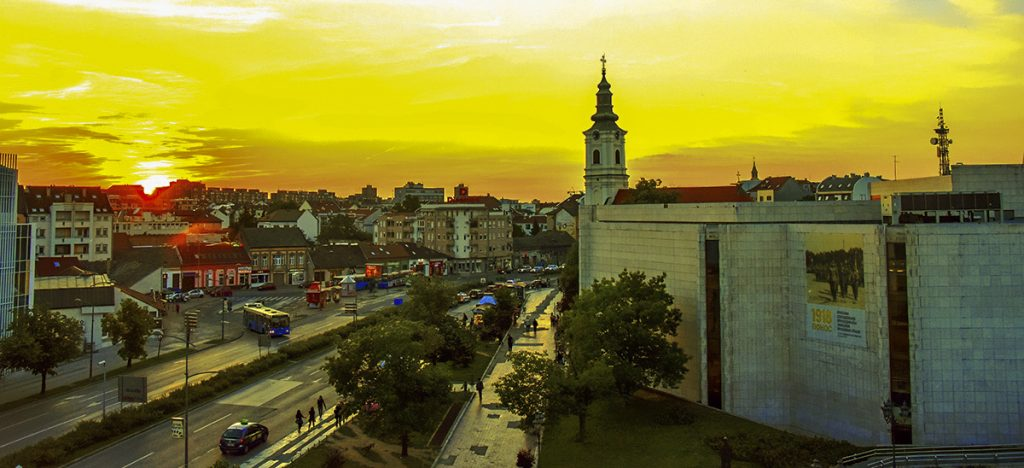 Panorama of the center of Novi Sad
