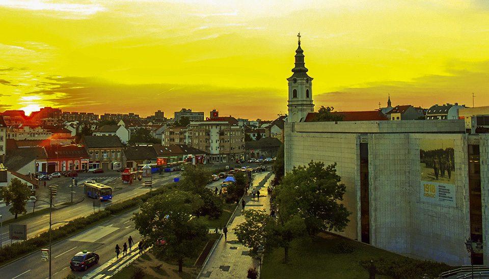 Panorama of the center of Novi Sad