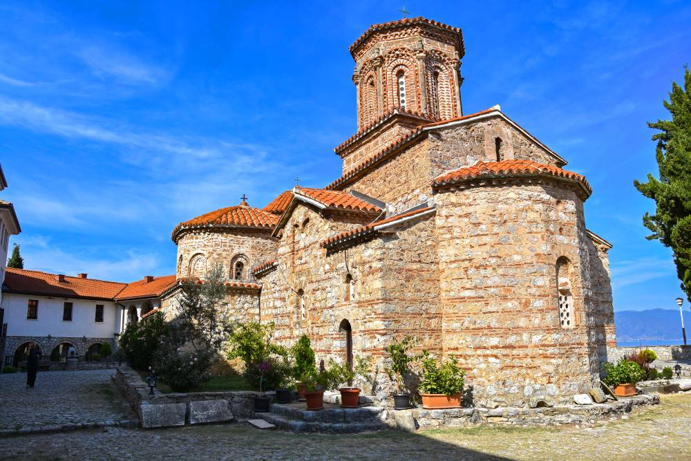 Church of Saint Naum in Saint Naum monastery complex build in the year 900