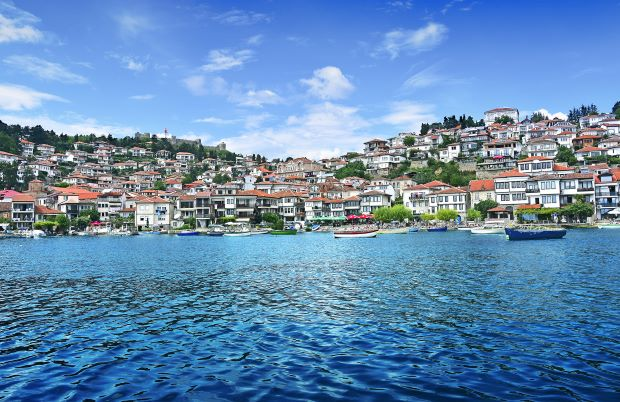 Panorama of Ohrid from the lake