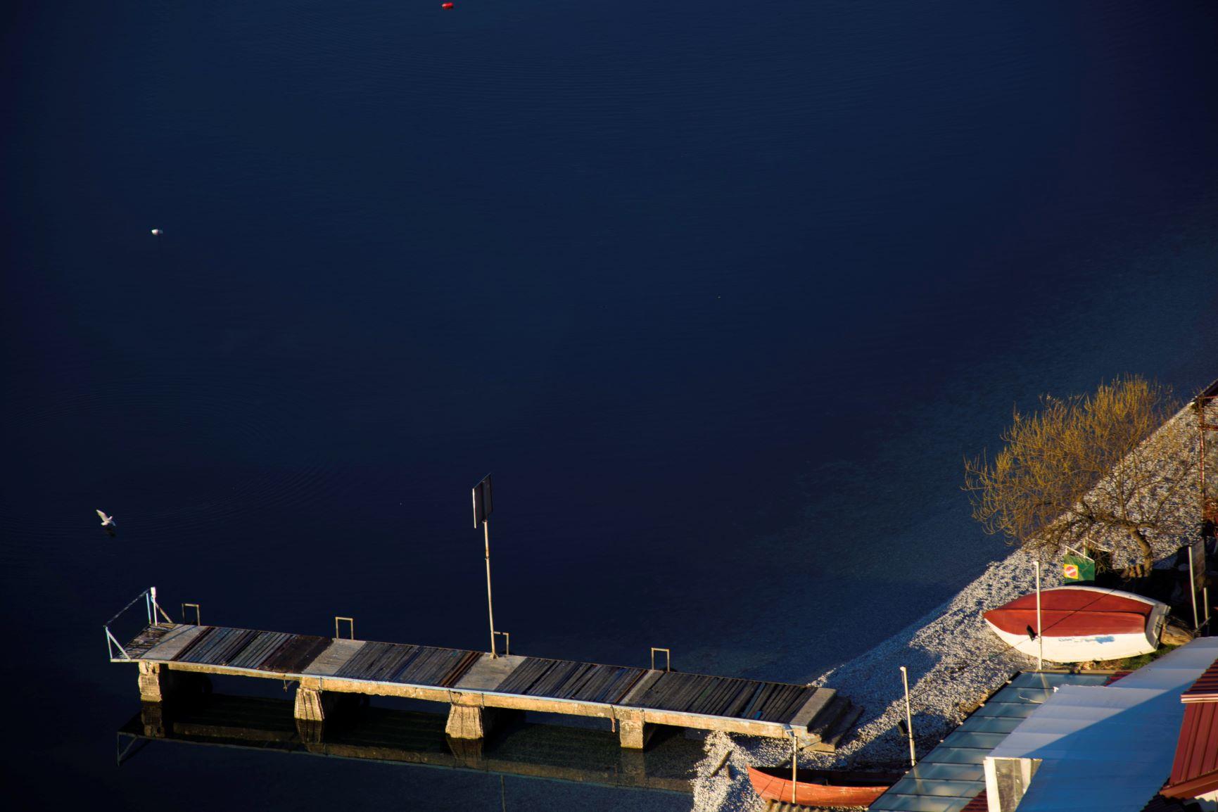 Small bridge on the beach in Trpejca village