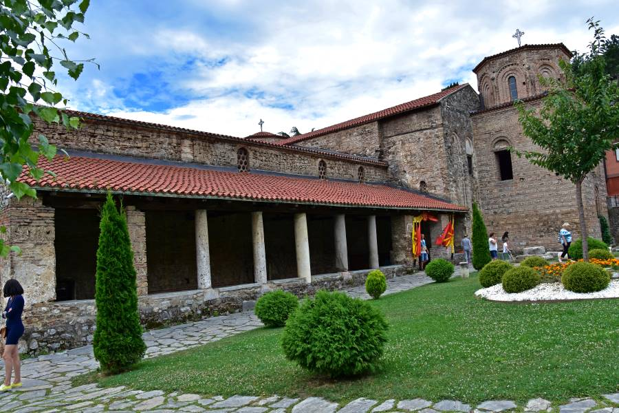 The backyard of St. SOfia church in Ohrid