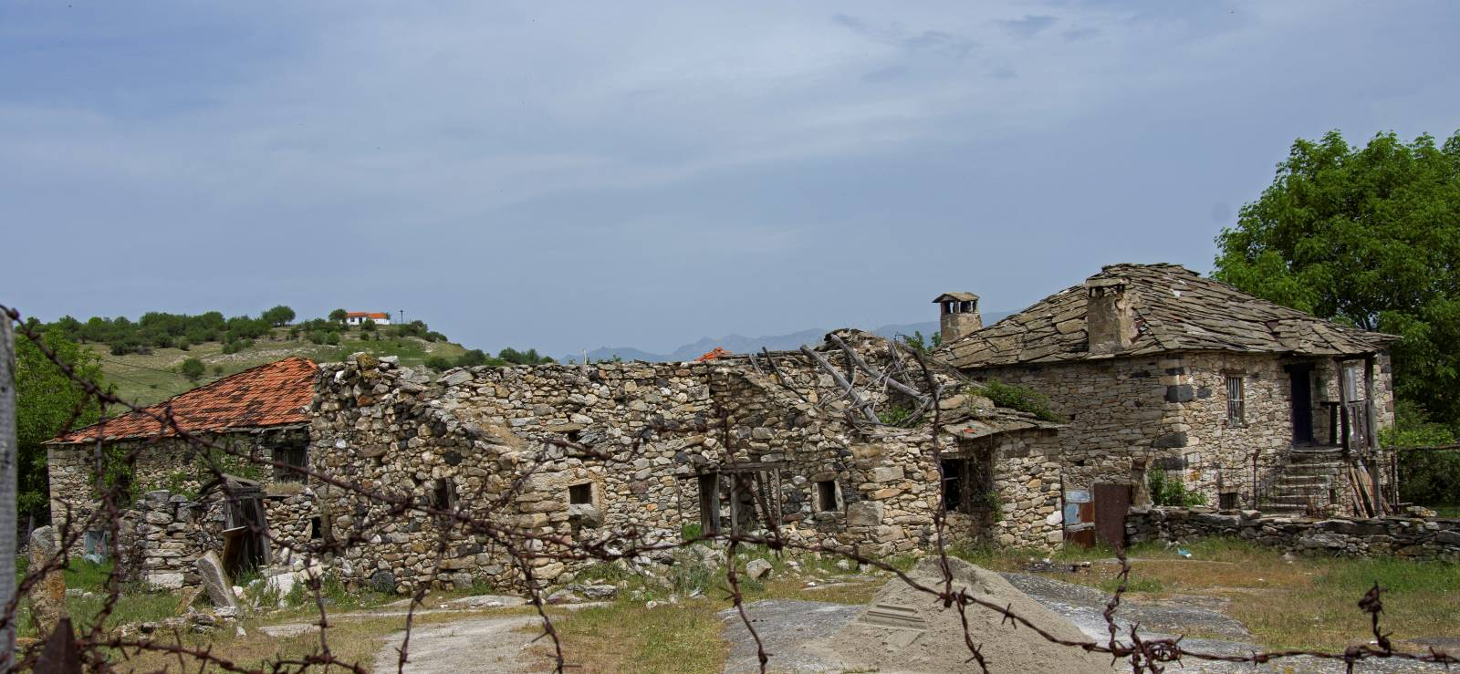 Ruined old house in the village of Zovich, Mariovo