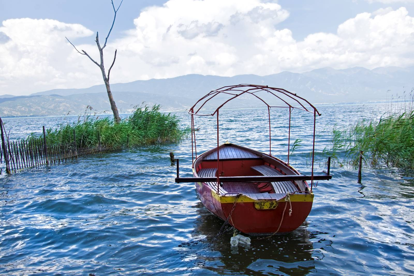 A boat in Dojran Lake