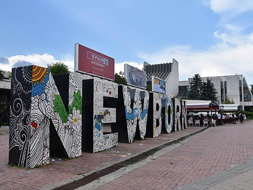 The newborn monument in Prishtina, Kosovo